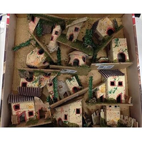 Set 12 Casolari da 6x5x8cm per presepe Napoletano