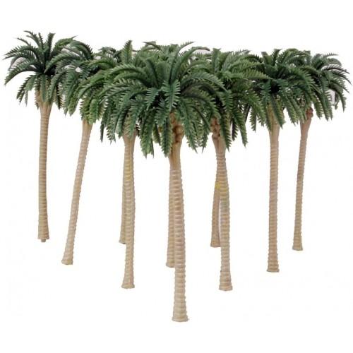 Set 10 modellini Palme da cocco verdi, da 13 cm, per presepe