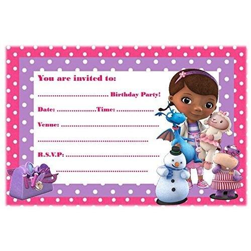 Inviti compleanno Dottoressa peluche