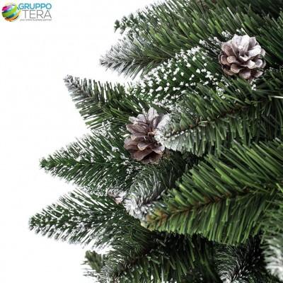 Albero Di Natale 250 Cm.Albero Di Natale Pino Artificiale Innevato Con Pigne Da 250 Cm