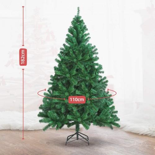 Albero Di Natale 800 Rami.Albero Di Natale 180cm Con Custodia E 800 Rami Realistico