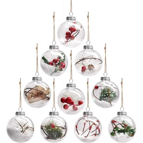 Set da 10 Palle di Natale stile Vintage, da 7,8 cm, per l'albero