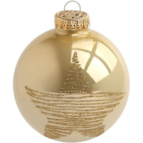 Set di 20 Palline di Natale in vetro colore Oro, da 5,7 cm