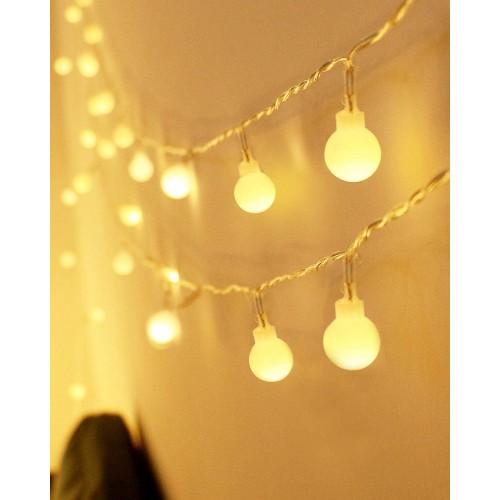 Catena Luminosa 80 palle di luce a led, con telecomando, impermeabili