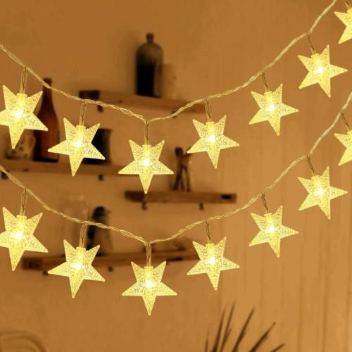 Catene Luminose con 50 Stelle a led da 7.5 metri, per decorazioni