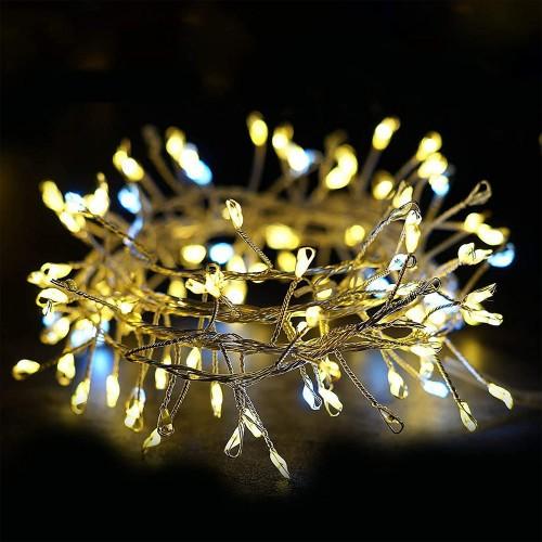 Catena con 100 Lucine a LED da 3 metri, luce bianca calda