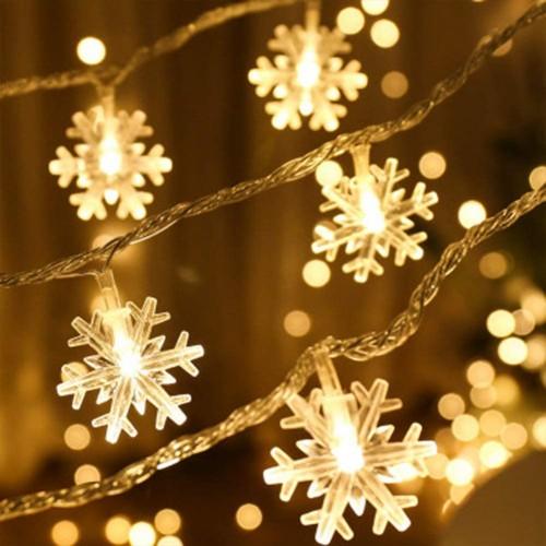 Catena Luci forma fiocco neve a led da 3 mt, per albero di Natale