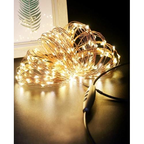 ⭐ Catena Luci 240 LED per albero di Natale, impermeabili, filo di rame