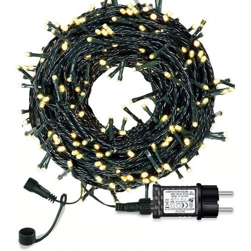 Set Luci per albero di Natale, , da 30mt e 300 LED, luci bianche