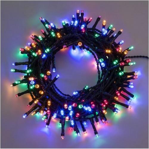 Catena Luminosa con 180 LED multicolore, da 7,5 metri