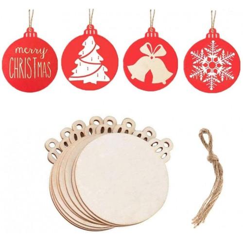 Set 40 decorazioni pendenti in legno natalizi, per l'albero di Natale
