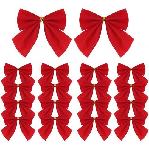 Set 120 nastri fiocco rossi di Natale, decorazioni albero