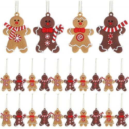 Set da ornamenti in  Pan Zenzero natalizi, decorazioni albero