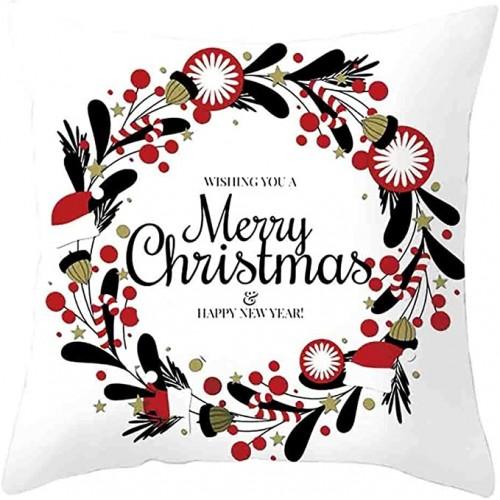 Copricuscino Marry Christmas in cotone da 45 cm, federa natalizia