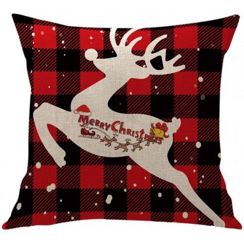 Fodera per cuscino renna natalizia, 45 x 45 cm, idea regalo
