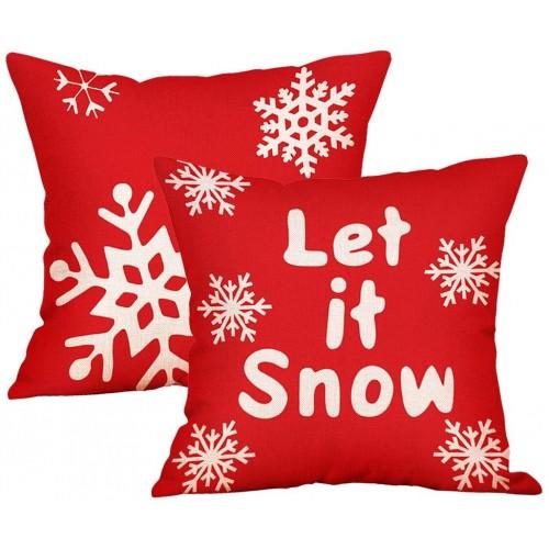 Set 2 federe per cuscino motivo fiocco di neve, idea regalo
