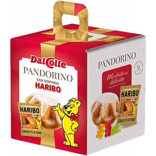 Box con 24 pandorini Del Colle, panettoncini con sorpresa