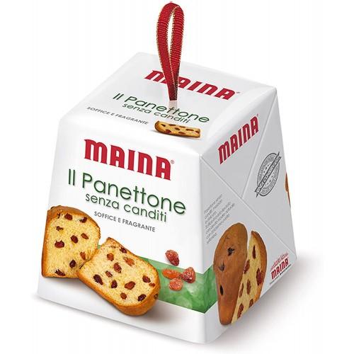 Box con 12 mini panettoni Maina senza canditi, panettoncini