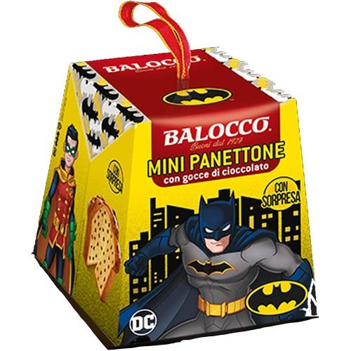 Mini panettone Batman con gocce di cioccolato, panettoncino Balocco