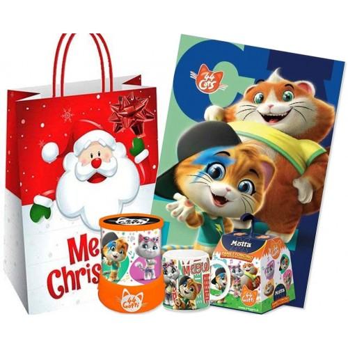 Panettoncino 44 Gatti con sorpresa, kit regalo di Natale