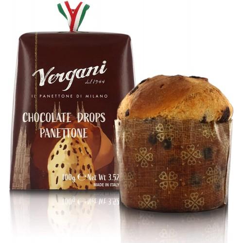 Box 3 mini panettoni Vergani con gocce di cioccolato da 100gr
