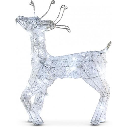 Cervo a LED da 45 cm a batterie, renna illuminata di Natale