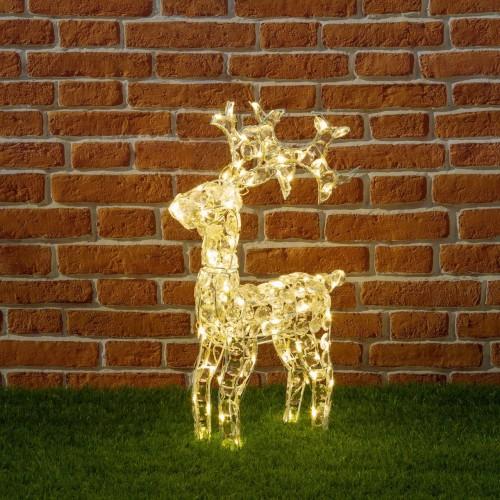 Renna in cristalli acrilici, luminosa da 70 cm, perfetta per decorare casa