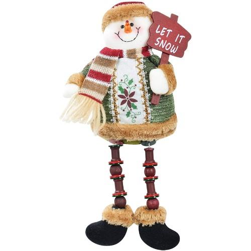 Pupazzo di neve in porcellana, arredo casa natalizio