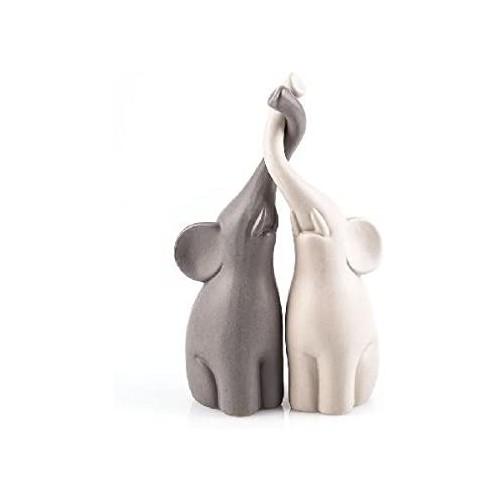 Coppia di Statuette elefantini in Ceramica