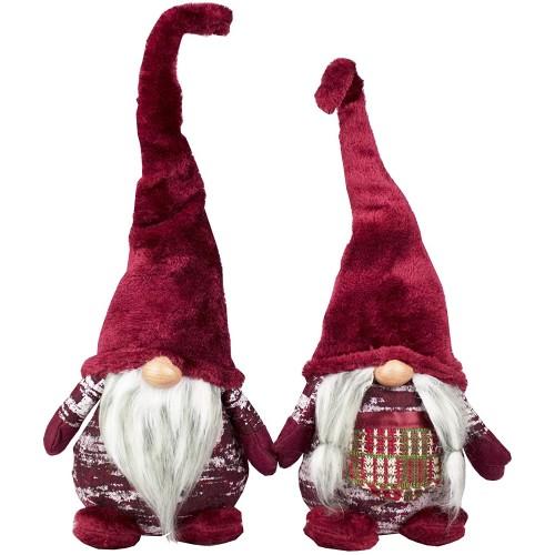 Coppia pupazzi Gnomi Elfi nani da 42 cm