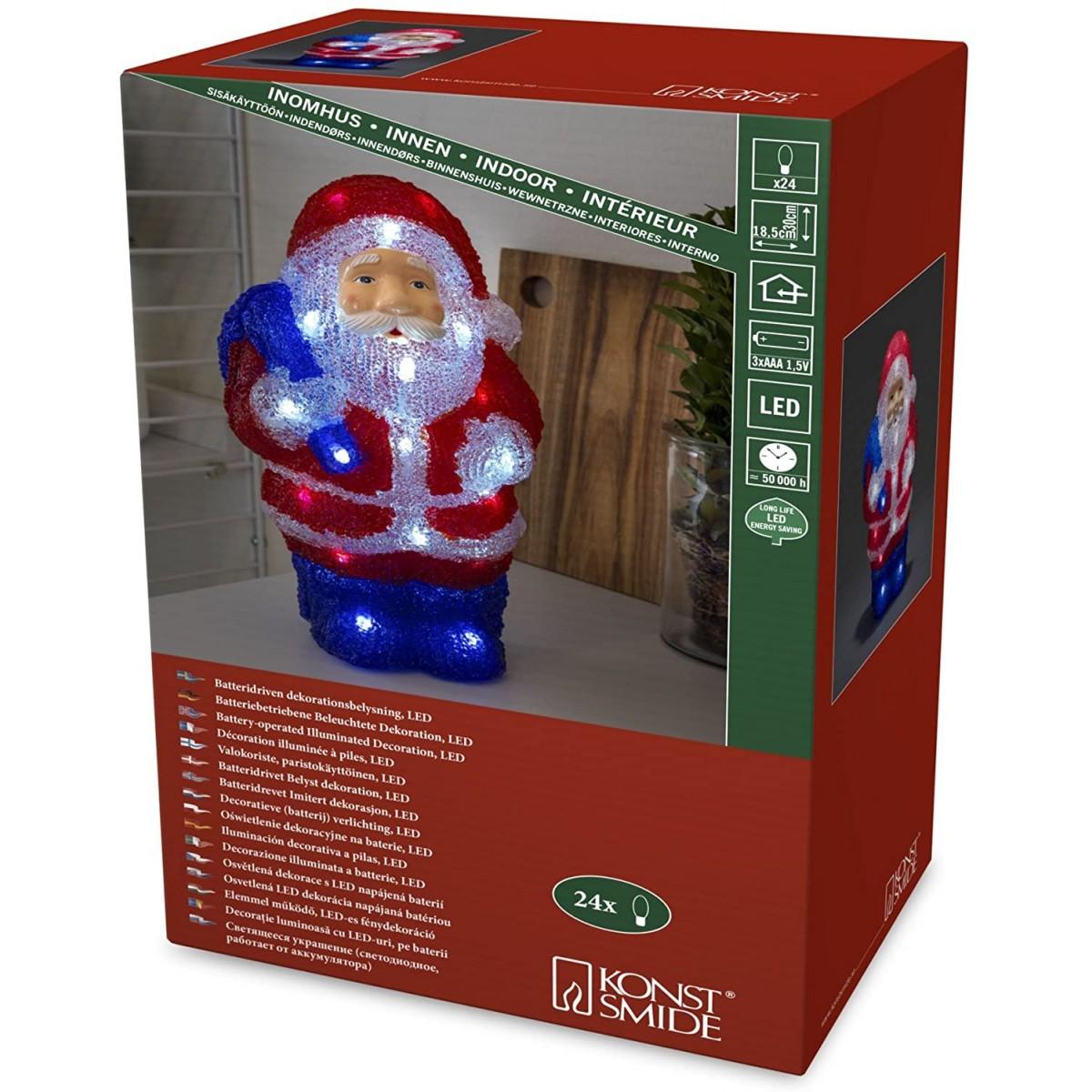 Decorazioni Natalizie A Led.Babbo Natale Luminoso Con Led Decorazioni Natalizie