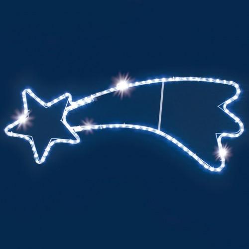 Stella cometa luminosa a Led con flash, 95 cm, decorazione natalizia