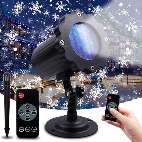 Proiettore magia di Stelle, fiocchi di Natale a Led, impermeabile, uso esterno