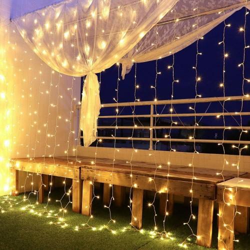 Tenda di luci a LED da 3 x 3 m, 8 modalità di luce