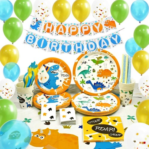 Kit per feste Dinosauri Maxi - 169 pezzi