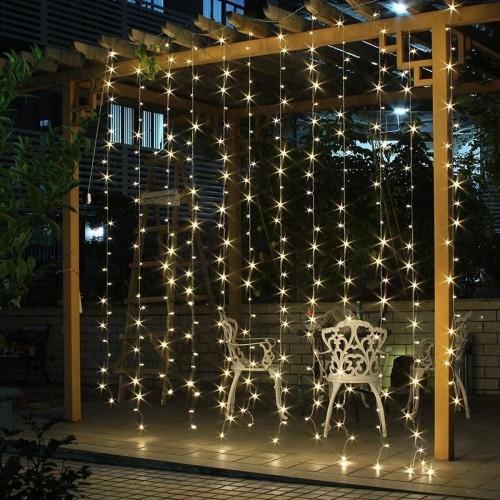 Tenda Luminosa, catena LED 3 x 3 metri, 300 luci a led