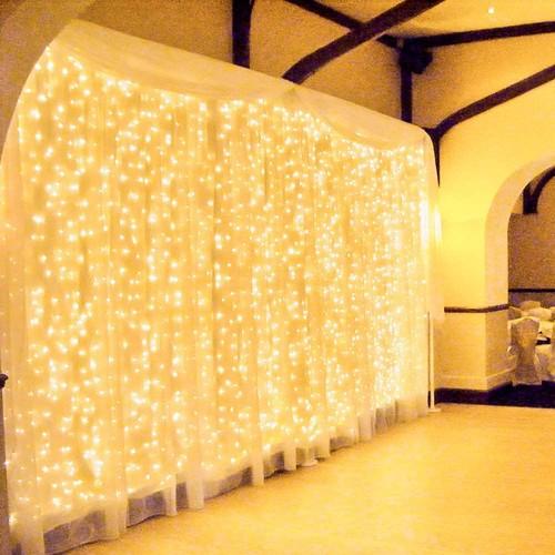 Tenda luminosa con 600 Led, da 6 x 3 metri, 8 funzioni