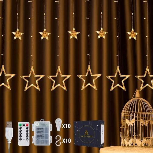Tenda luminosa con stelle da 2,5M, 8 effetti, con telecomando