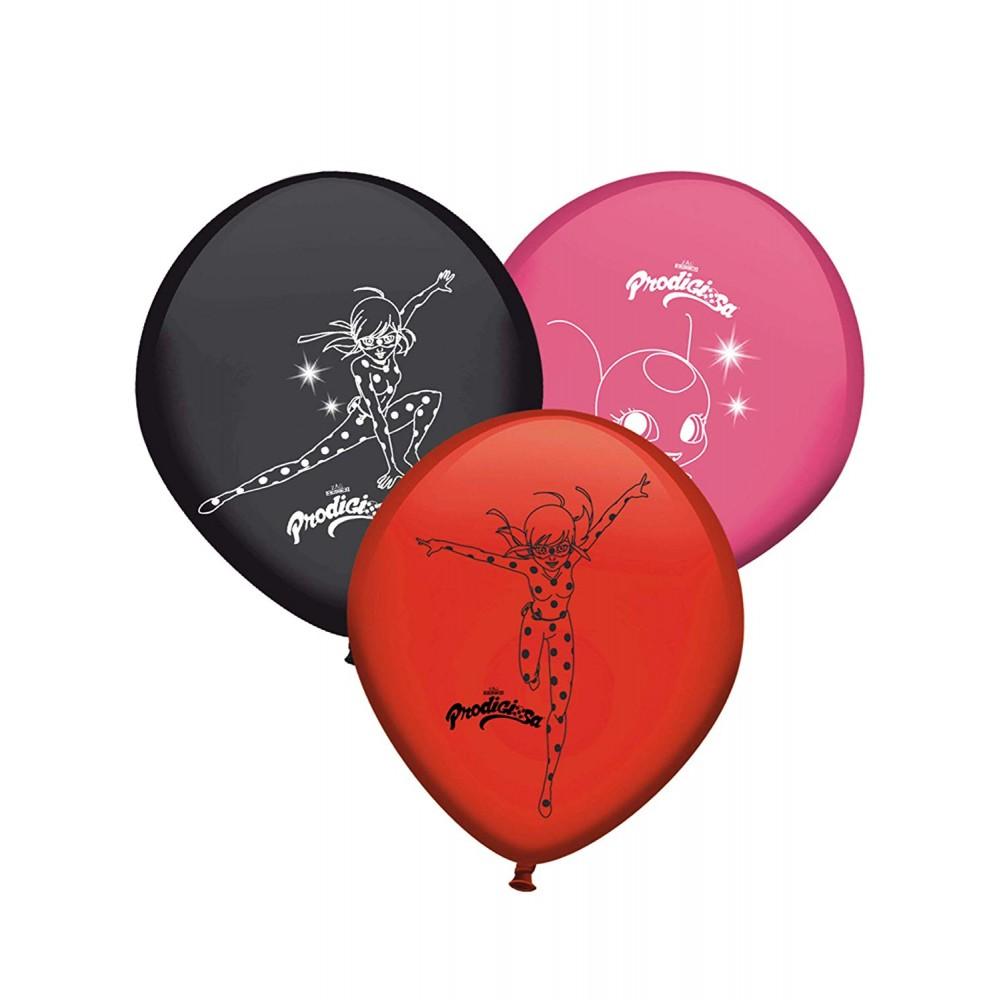 8 palloncini assortiti di Lady Bug