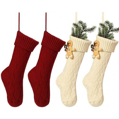 Set 4  Calze per la Befana in maglia, idea per Natale