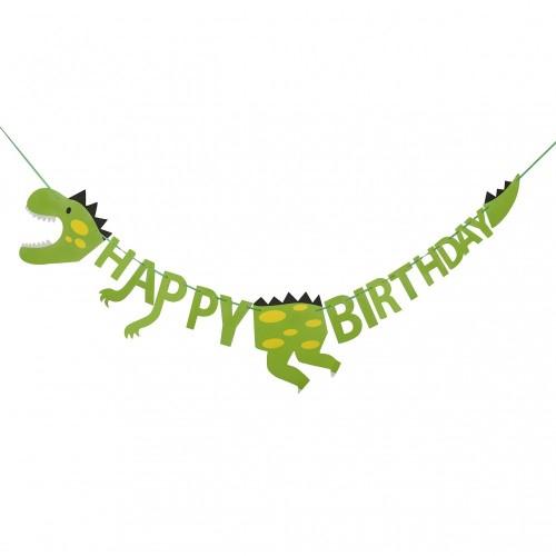 HONGXIN-SHOP Decorazioni di Compleanno di Dinosauro Happy Birthday Banner Decorazione per Festa Party Bambini Toddler Ragazzo