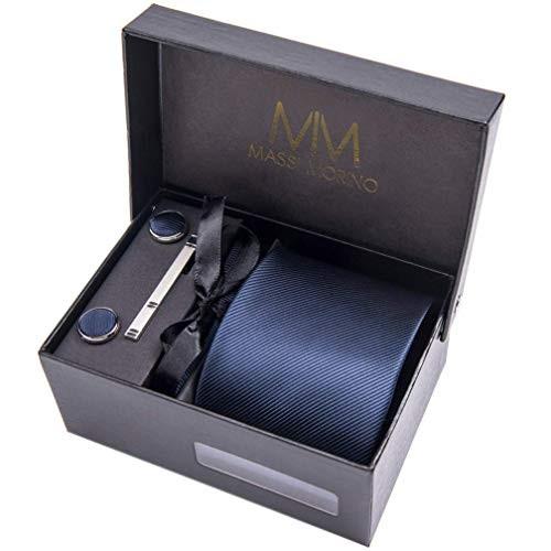 Set Cravatta uomo con gemelli e fazzoletto - Massi Morino ®