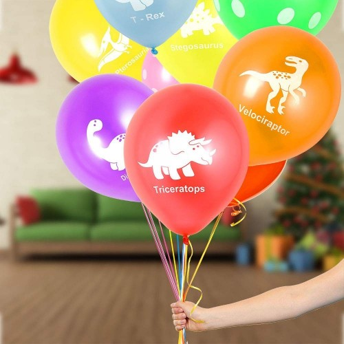 12 palloncini in lattice dinosauri