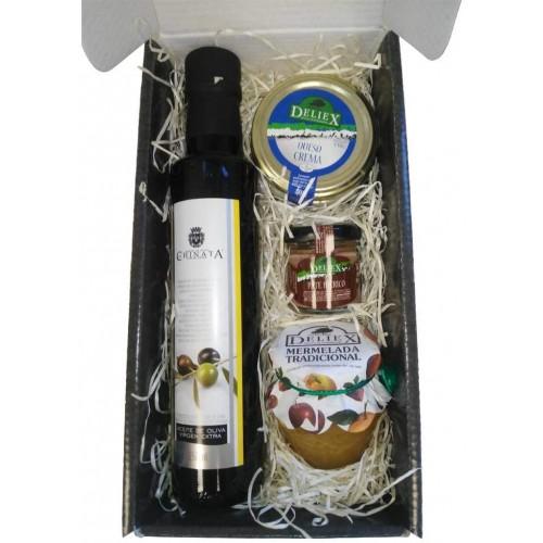 Cesto natalizio gourmet con olio extra vergine di oliva 250 ml