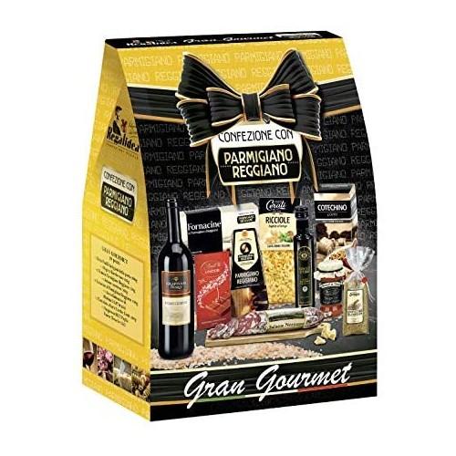 Cesto Natalizio Gran Gourmet da 10 prodotti, con Parmigiano Reggiano