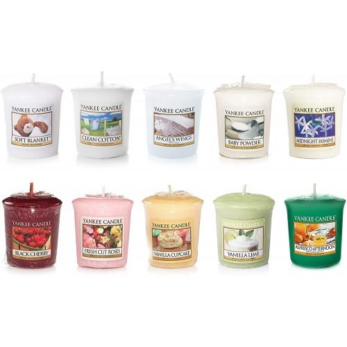 Set di 10 candele, fragranze varie, idea regalo