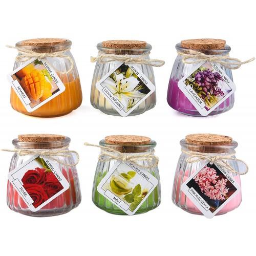 Candele profumate per aromaterapia, 6 pezzi, idea regalo