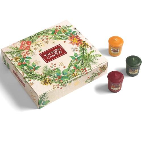 Set 12 candele profumate in confezione regalo natalizio - Yankee Candle