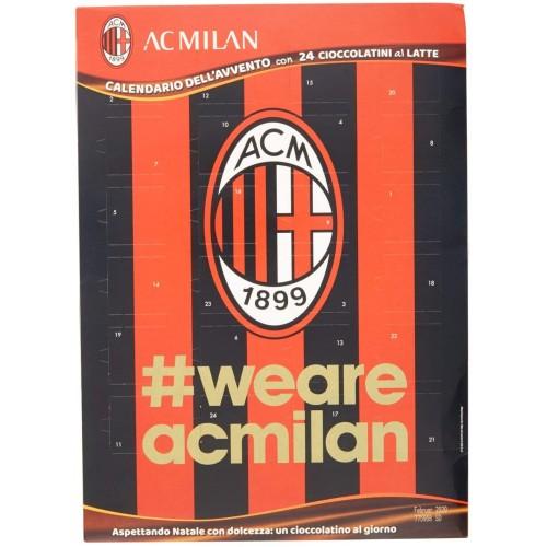 Calendario dell'avvento A.C Milan da 75 g, con 24 cioccolatini al latte