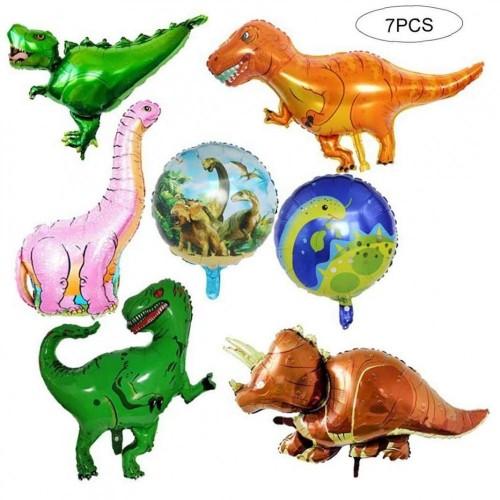 7 foil dinosauri - palloncini
